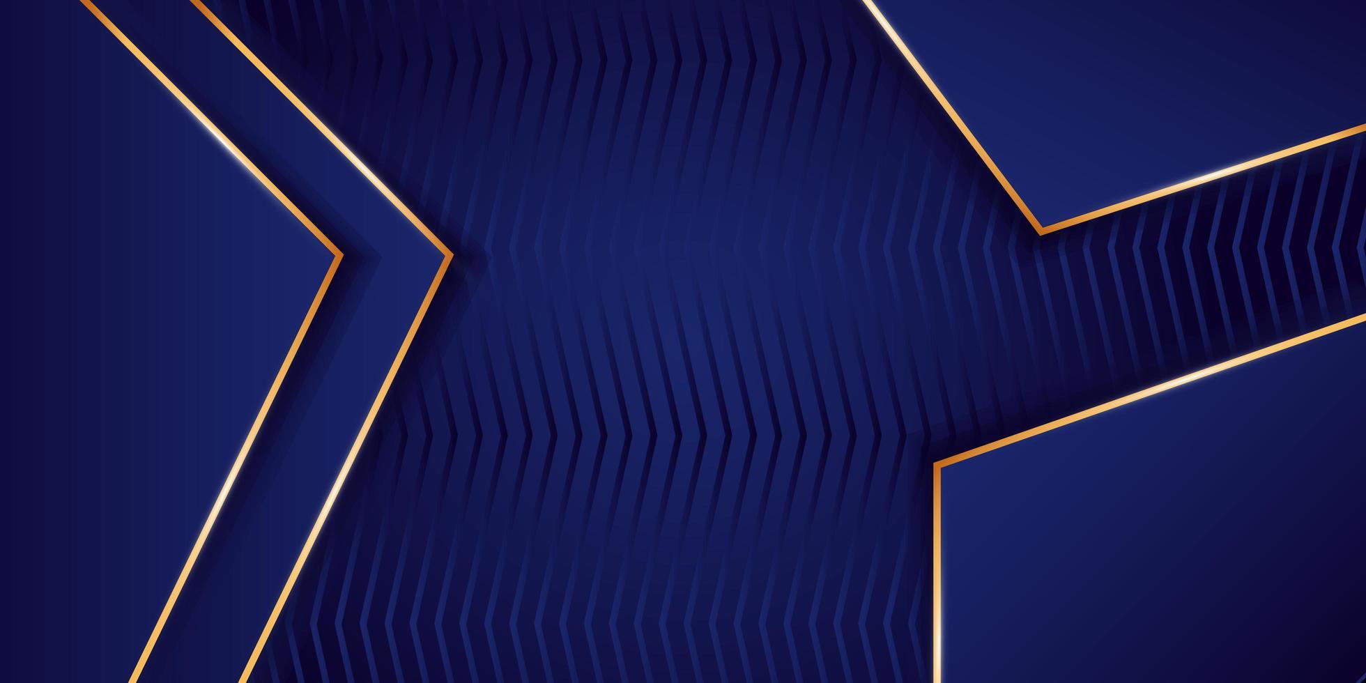 Elegant blå och guld bakgrund vektor