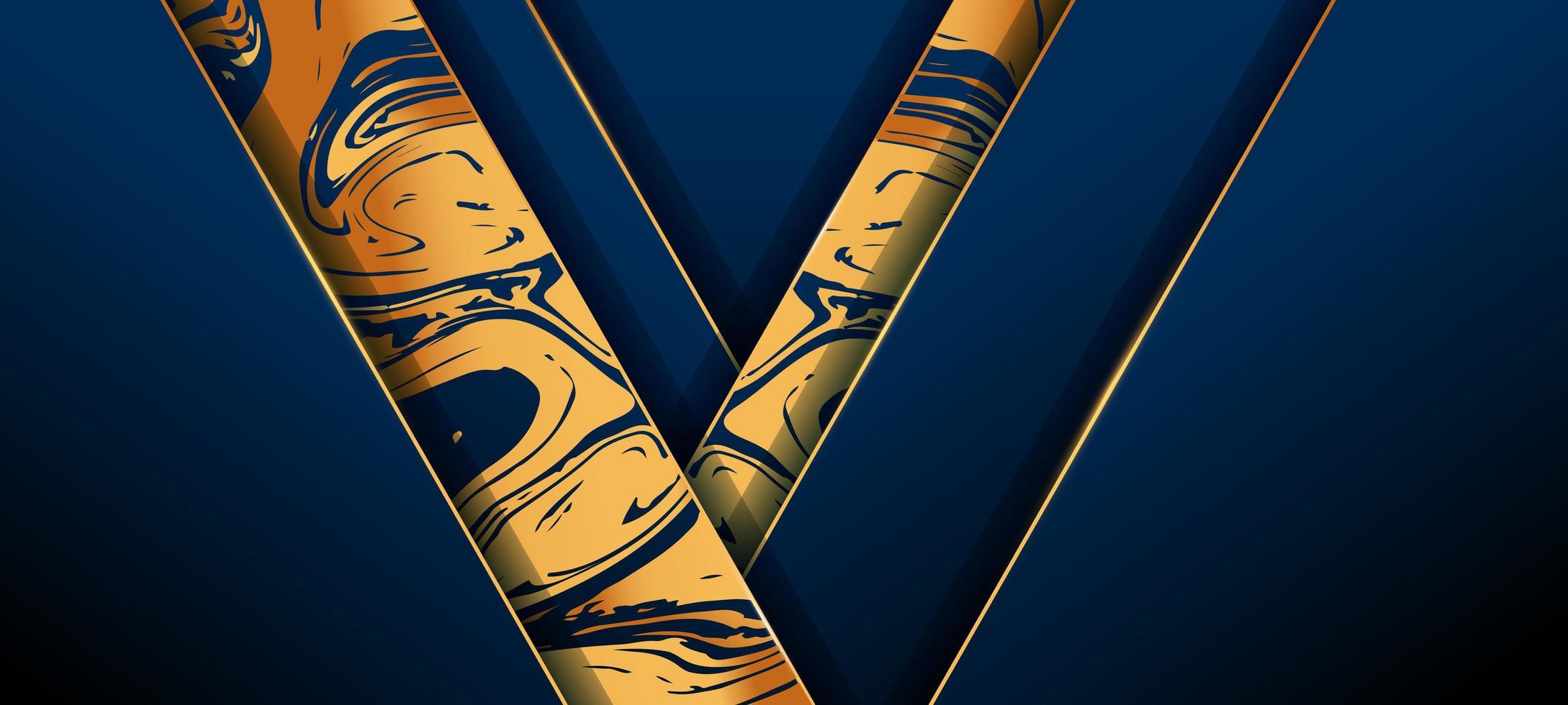 Elegant guld och blått med stänkbakgrund vektor