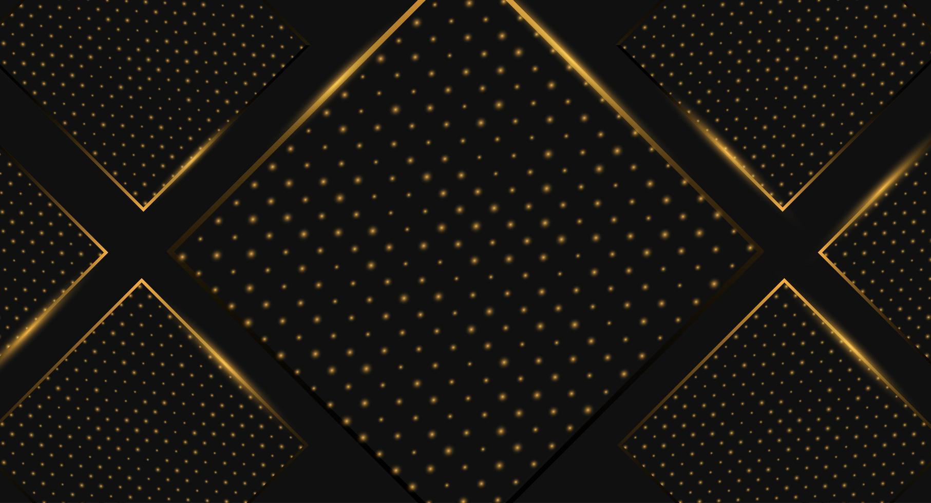 Speciell svart och guld diamantbakgrund vektor
