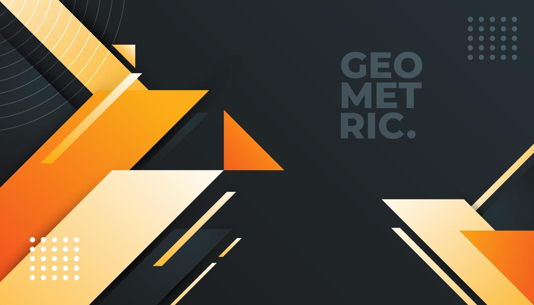 Minimaler grauer und orange geometrischer Hintergrund vektor