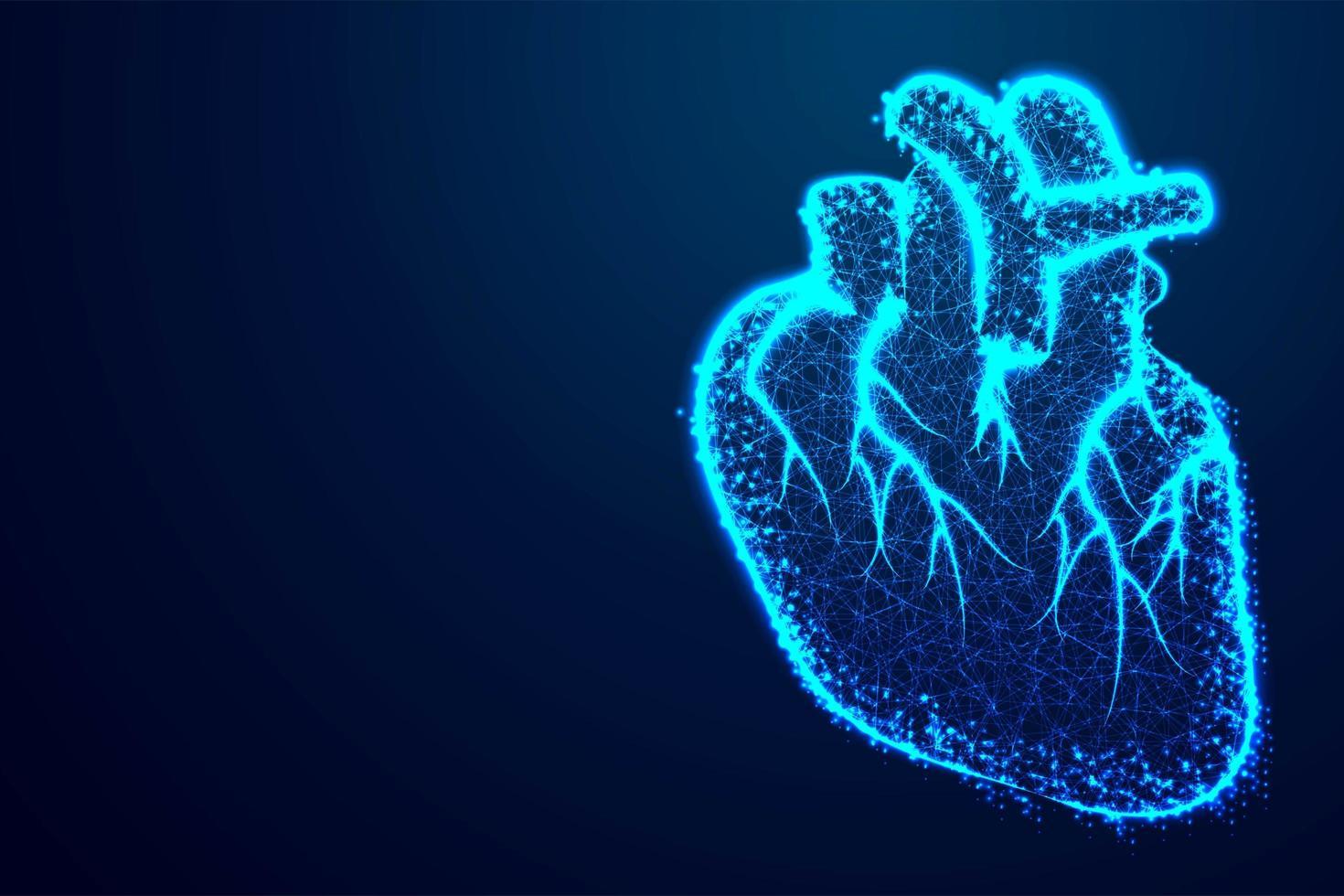 modern mänsklig hjärta design vektor