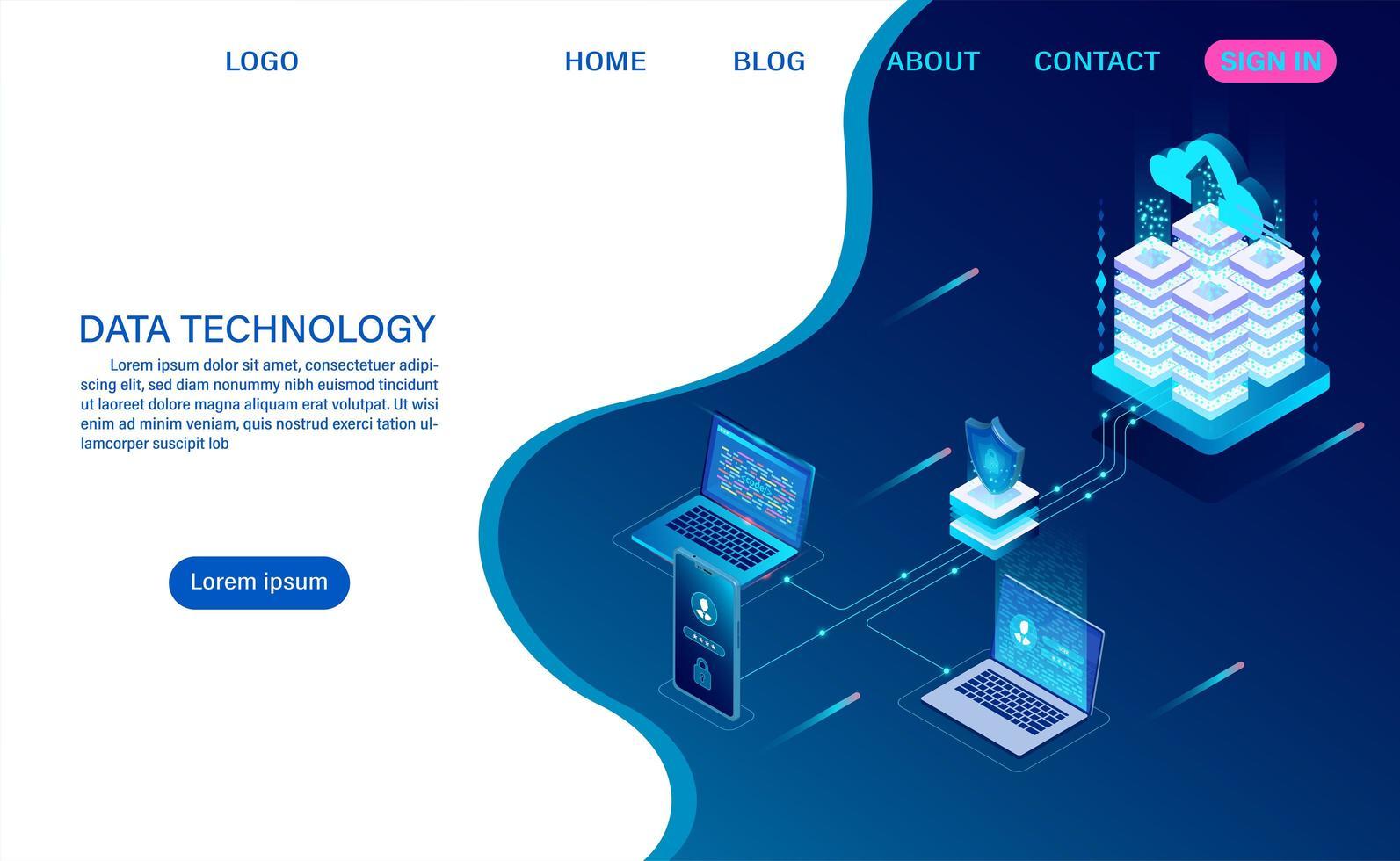 målsida för datateknik vektor
