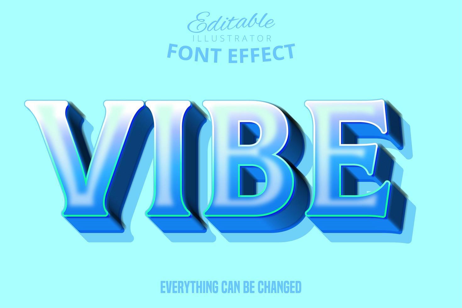 Vibe-Text, bearbeitbarer Schrifteffekt vektor