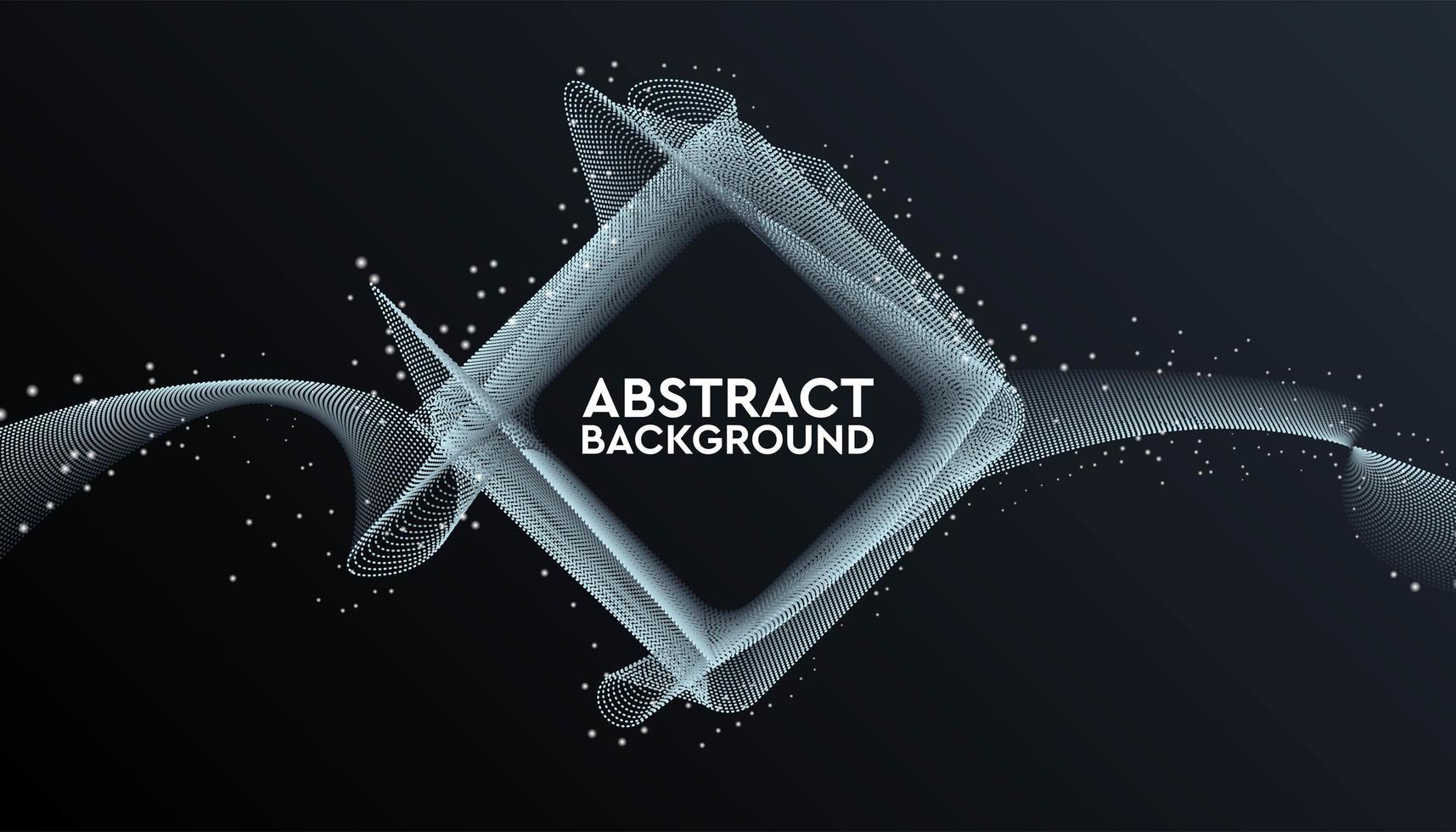 schwarzes und graues abstraktes geometrisches quadratisches Banner vektor
