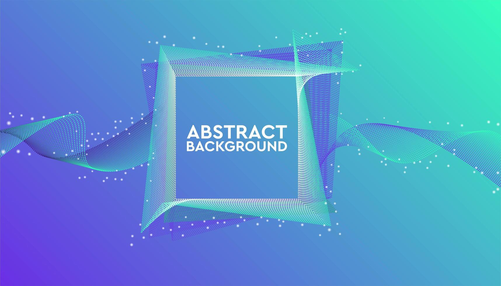 blå och grön geometrisk banner vektor