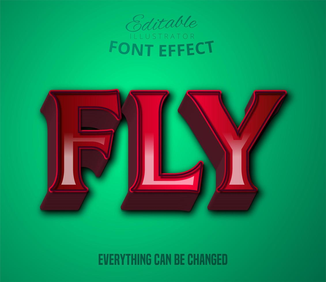 Fliegentext, bearbeitbarer Texteffekt vektor
