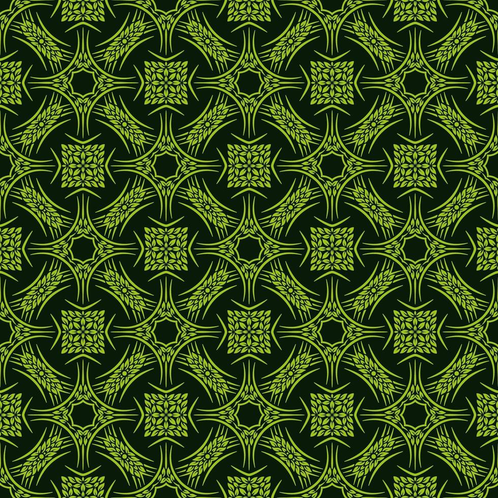 ljusgrön bladgrön mönster vektor