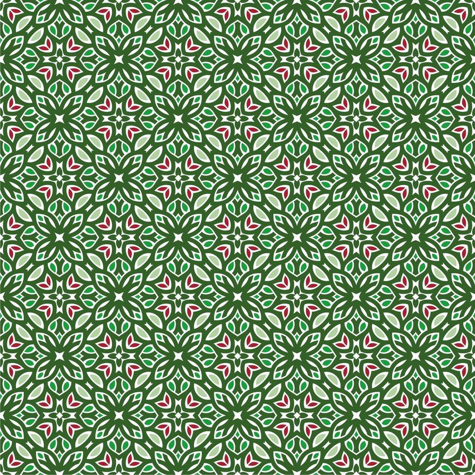 grönt, rosa och ljusgrönt geometriskt mönster vektor