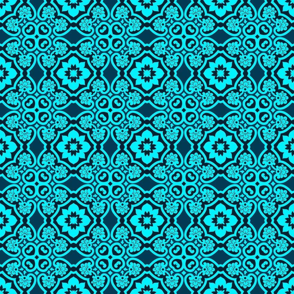 turkos och mörkblått geometriskt mönster vektor