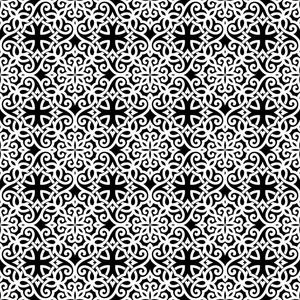 vitt och svart geometriskt mönster vektor