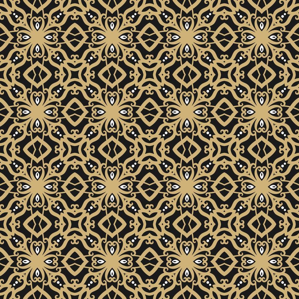 svart, solbrunt och vitt geometriskt mönster vektor