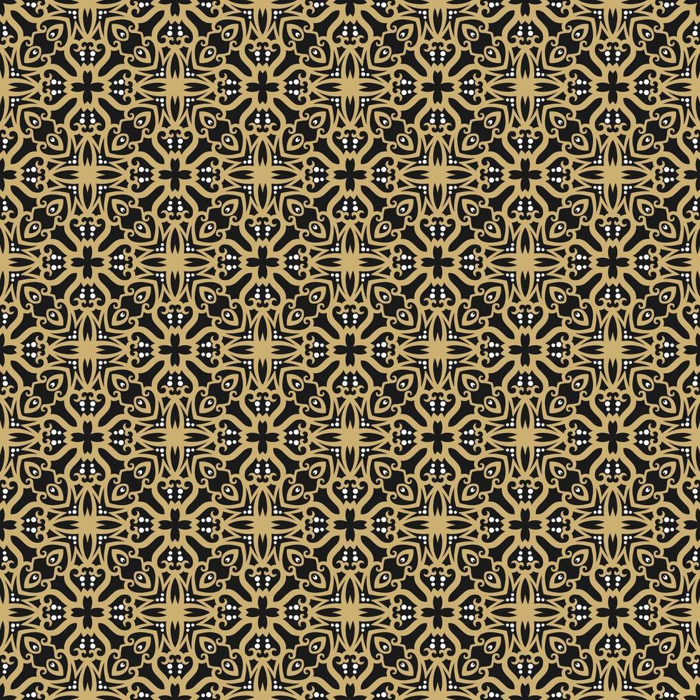 ljusbrunt, svart och geometriskt mönster vektor