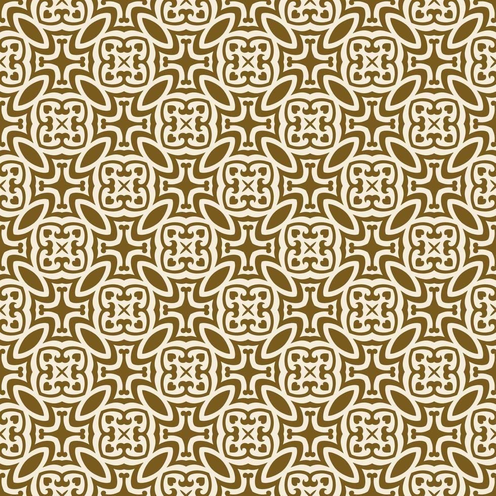 geometriskt mönster för brunt och grädde vektor