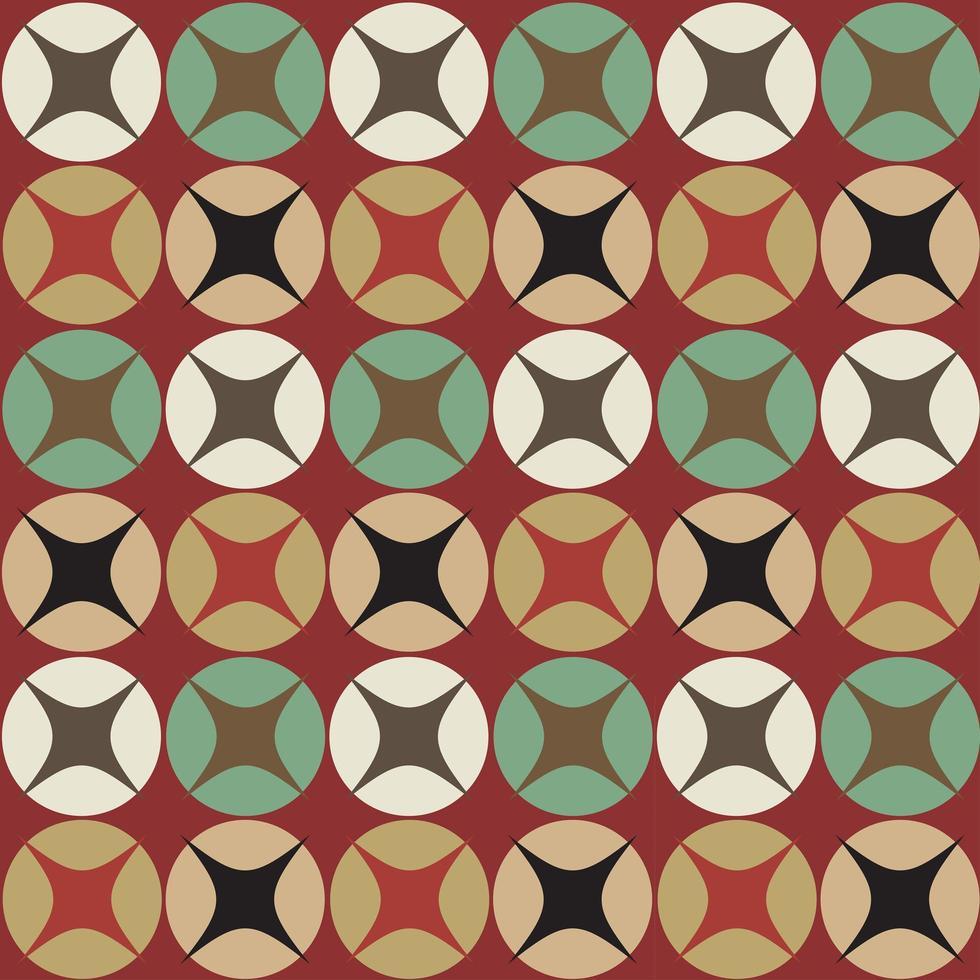 sömlösa retro cirkulära mönster vektor