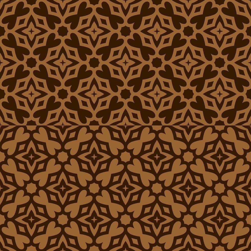 brunt och solbrunt geometriskt mönster vektor