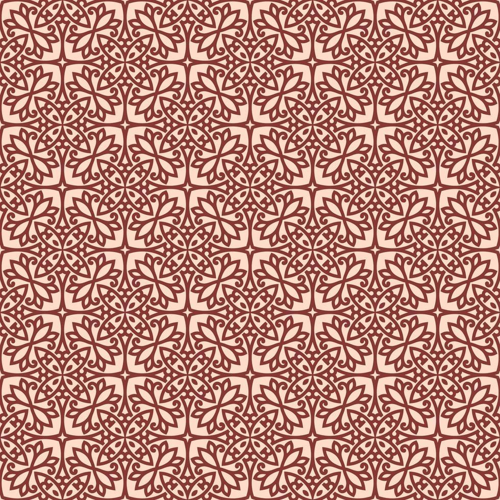rosa med rödbrun detaljer geometriska mönster vektor