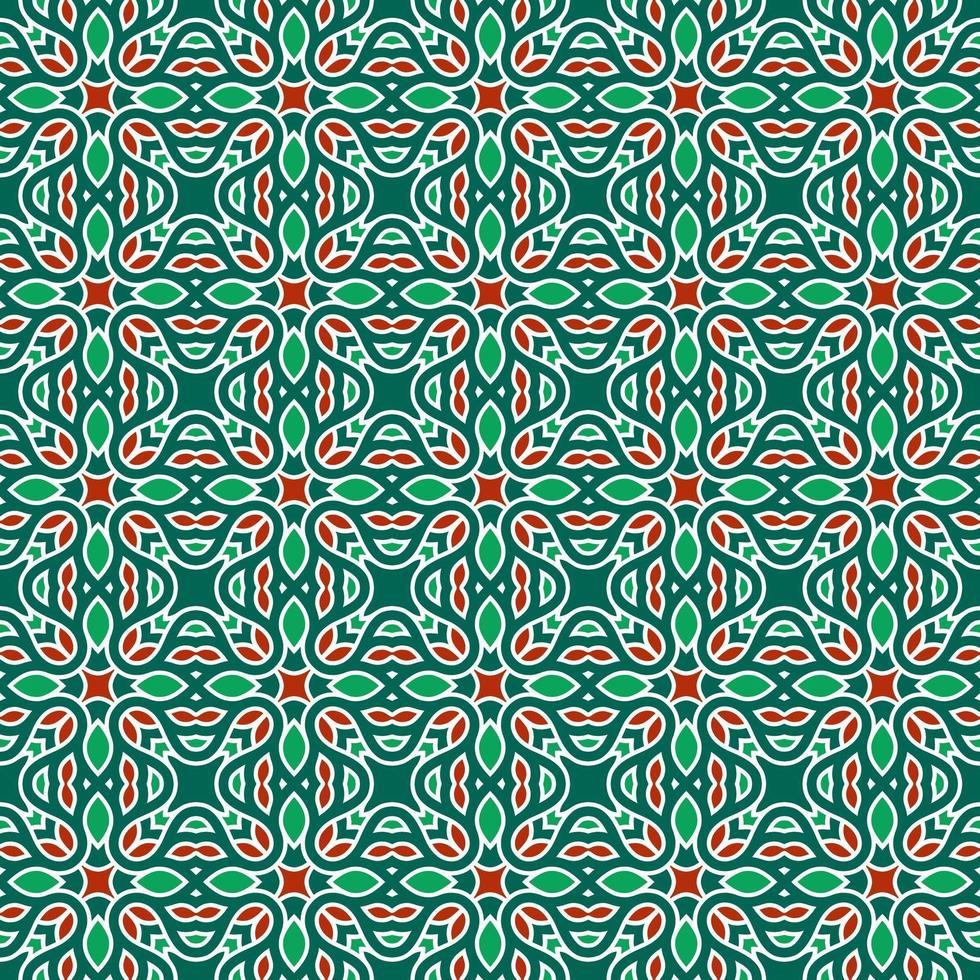 grönt och rött geometriskt mönster vektor