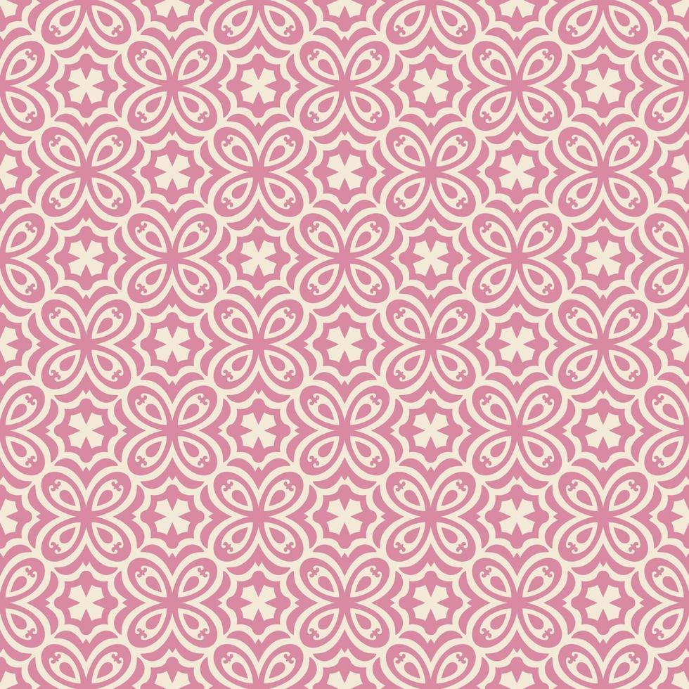 rosa och ljusare rosa blomliknande geometriska mönster vektor