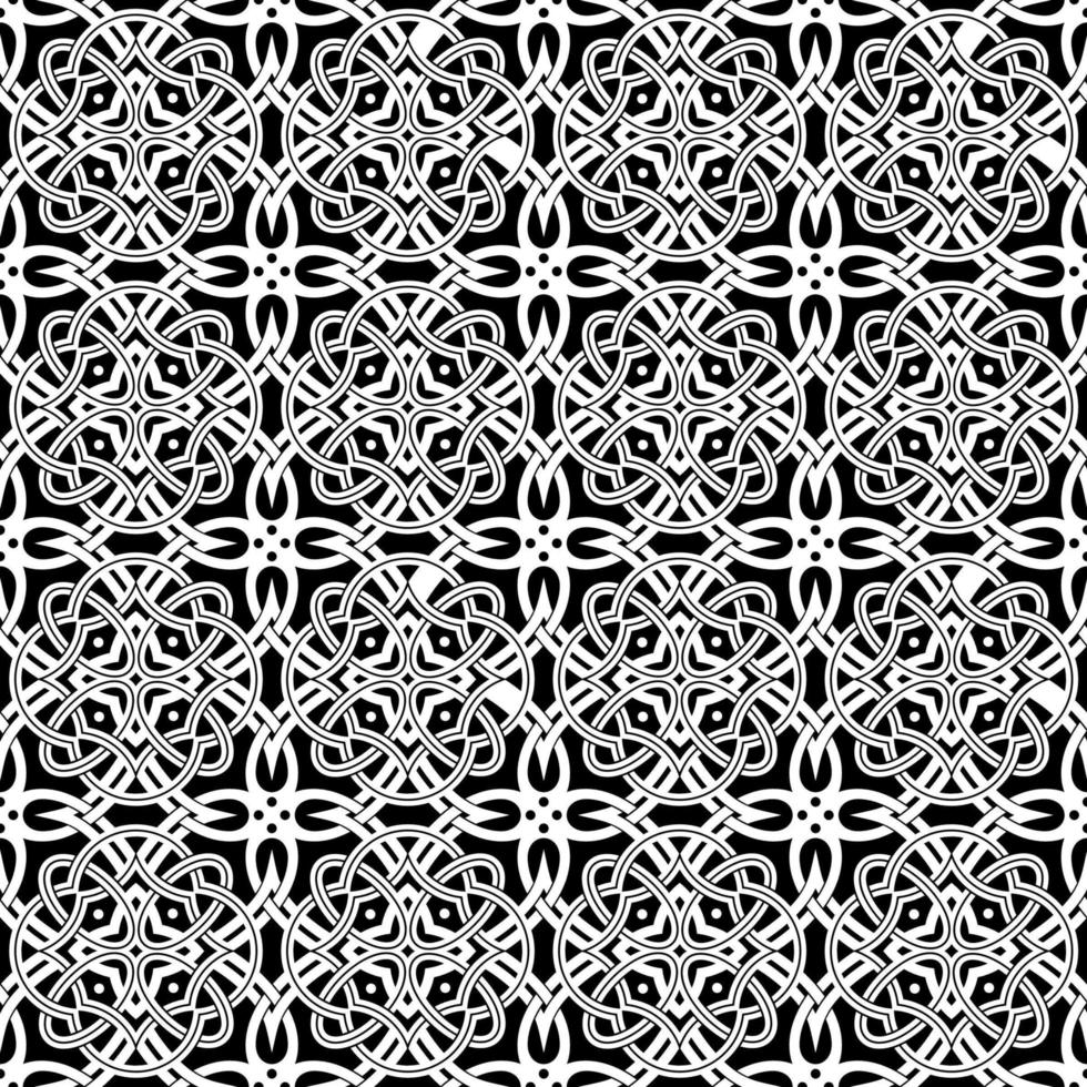 geometriska svartvita mönster vektor