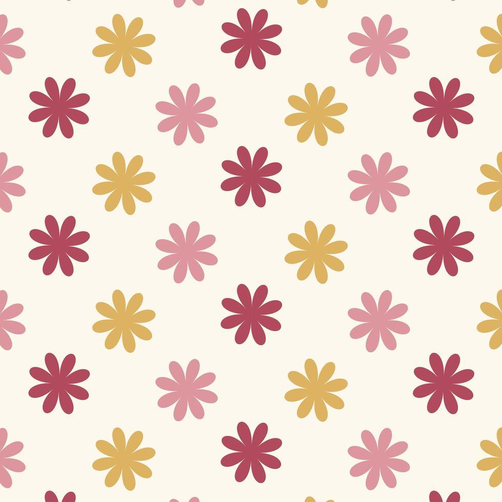 sömlösa röda och rosa blommönster vektor