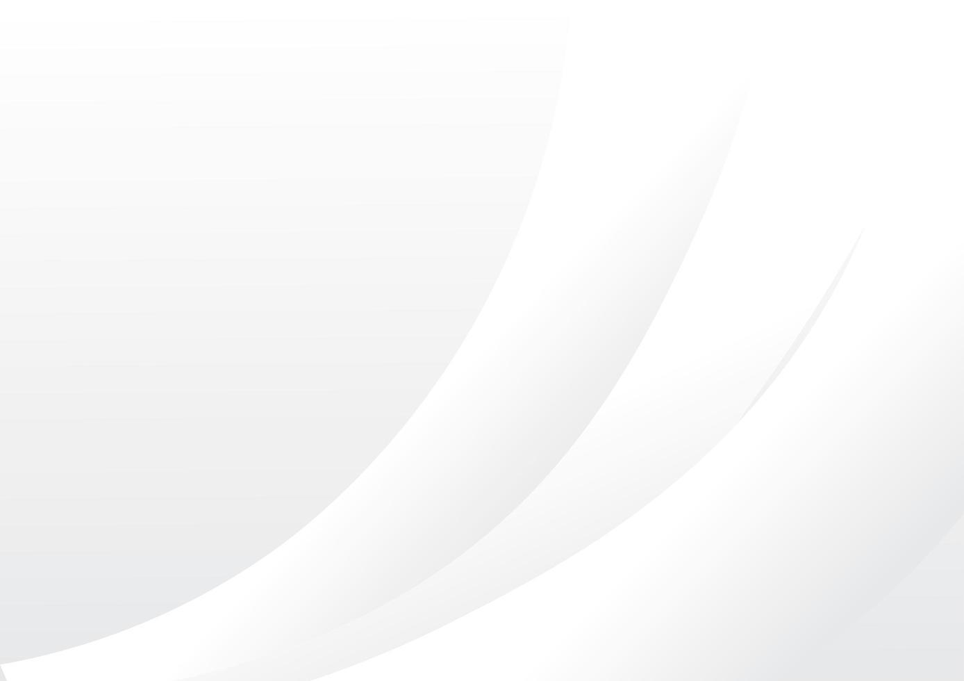 gebogene abstrakte weiße Tapete vektor