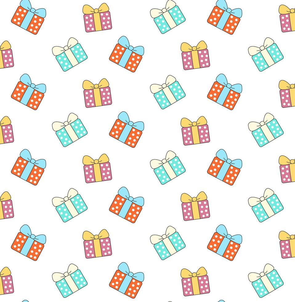 lila, blå och orange presentförpackning vektor
