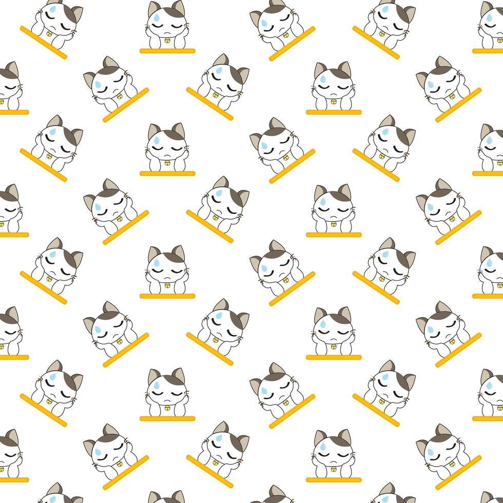 tecknad katter vilande huvud i tassar vektor