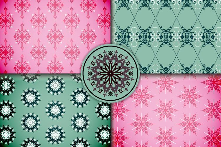 dekorativa dekorativa mönsteruppsättning vektor