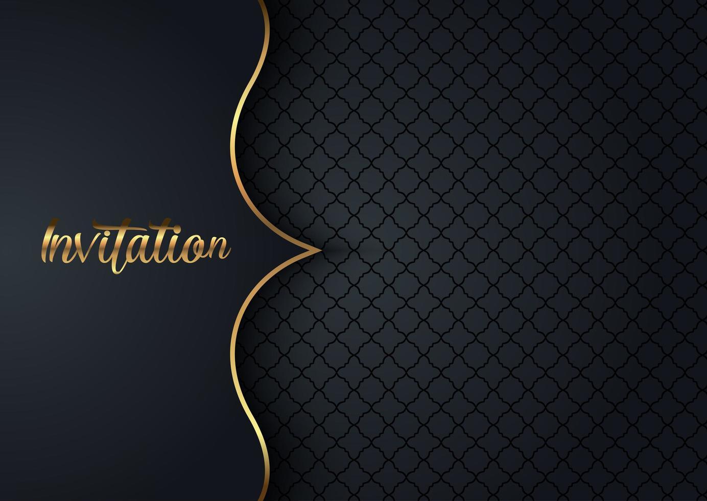 elegant inbjudan marin design med mönster vektor