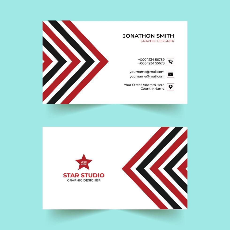 röda och svarta kreativa moderna visitkortsmall vektor