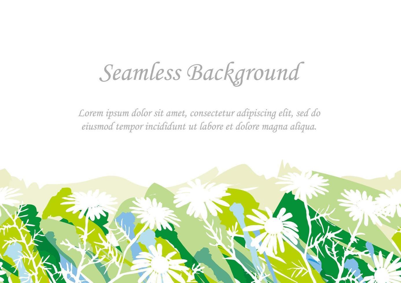 nahtloser grüner botanischer Hintergrund mit Textraum vektor