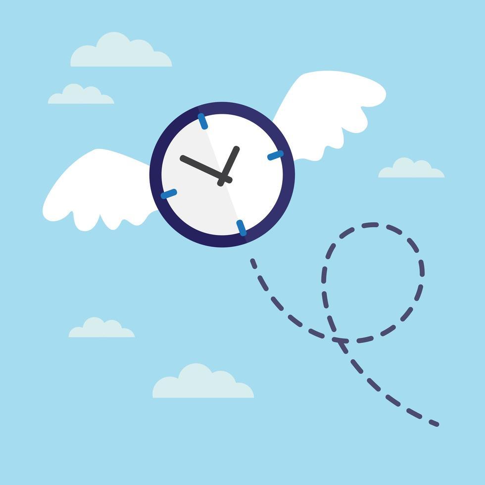flygande förlorad tid vektor