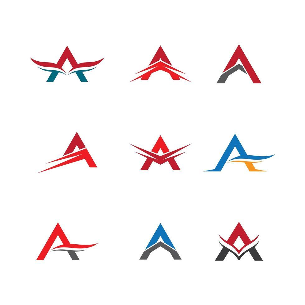 bokstäver en logotypuppsättning vektor