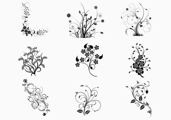 Blumen-Strudel-vektor-Satz vektor