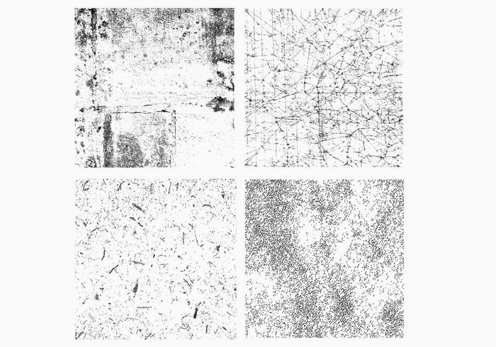 Grunge distressed textur vektor pack