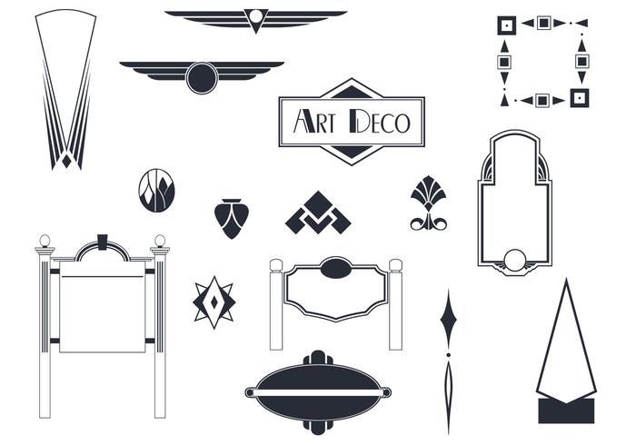 Art deco tecken och ornament vektorer