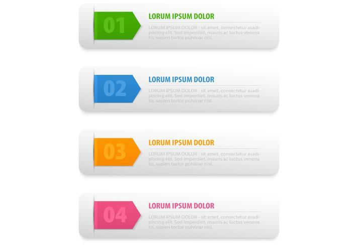 Bright Ribbon Banner Vektor-Set vektor