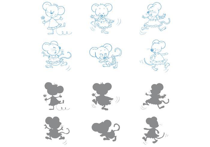 Tanzende Mäusevektoren vektor