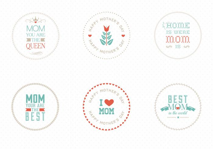 Mother's Day Badges Vector Pack