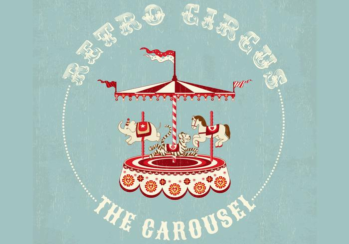 Retro cirkus karusell bakgrundsvektor vektor