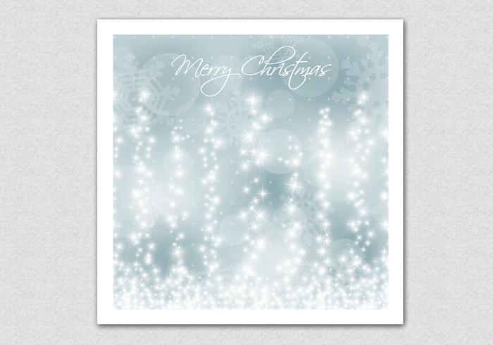 Glowing Snowflake Christmas Vector Background