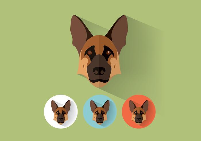 German Shepherd Vector Portraits