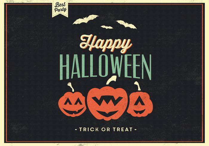 Grunge Happy Halloween Vector Background
