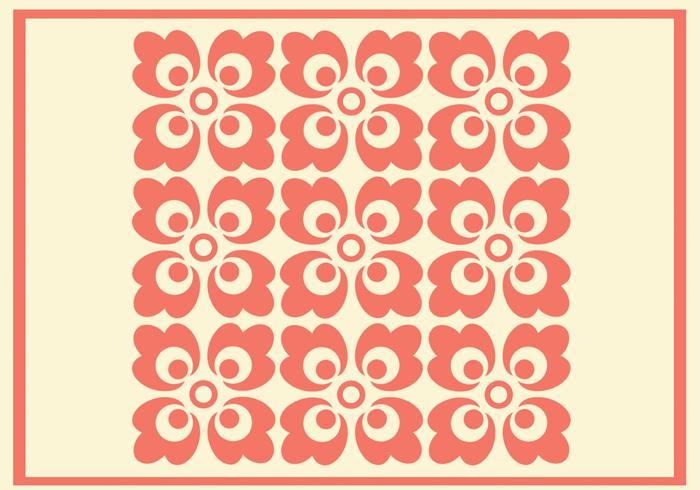 Korall prydnad vektor mönster