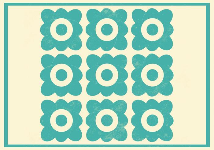 Teal Floral Vector Pattern