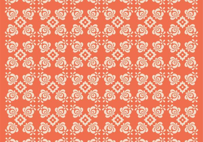 Orange Floral Vector Pattern Two
