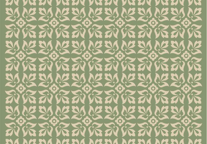 Grön prydnad vektor mönster