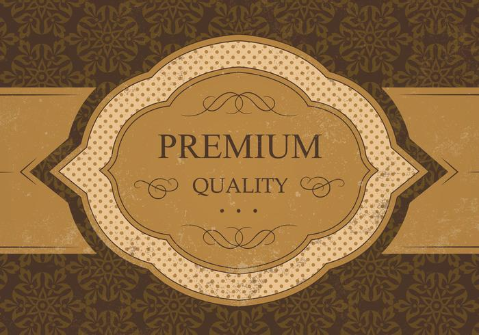 Vintage Premium Kvalitet Vector Bakgrund