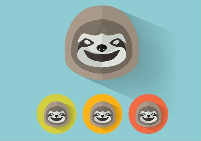 Sloth vektorporträtt vektor