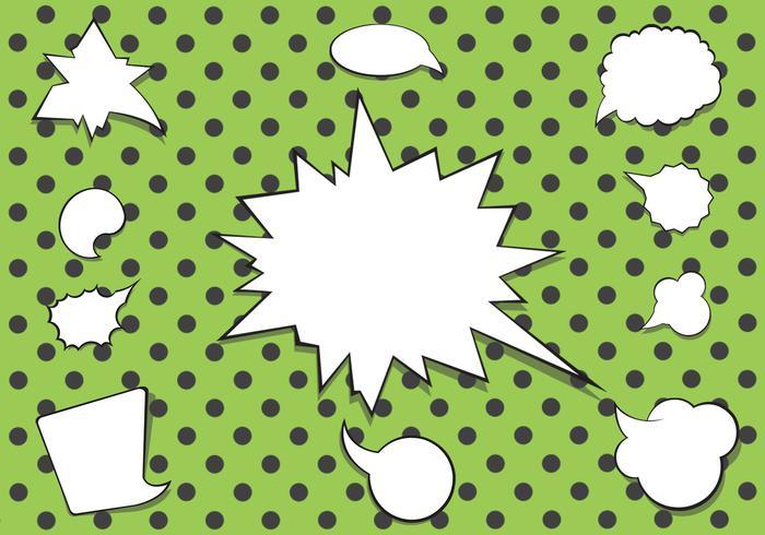 Comic-Sprechblase-Vektor-Pack vektor